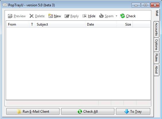 PoptrayU default window