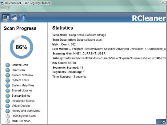 RCleaner 01 clean Windows registry