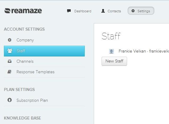 Reamaze staff adding
