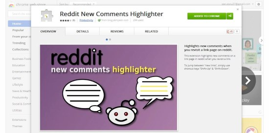 Reddit New Comments Highlighter interface