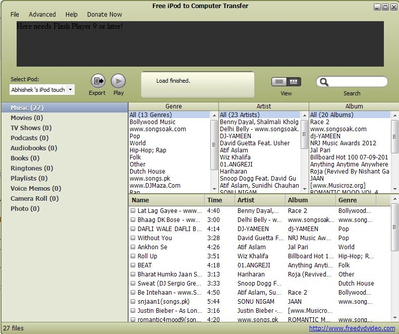 Transfer Music from iPod to Computer without iTunes: AVGO Free