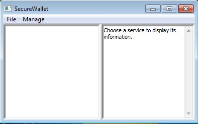 SecureWallet default window