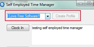 Self Employed Time Manager 02 time tracking application