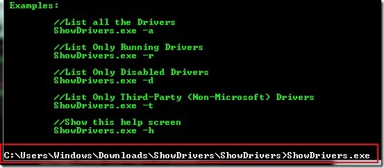 ShowDrivers 02 view list of installed drivers