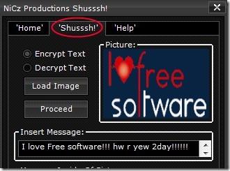Shusssh! 01 hidden messages in images
