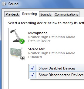 Spotify Recorder activating stereo mix