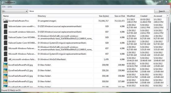 SwiftSearch file search