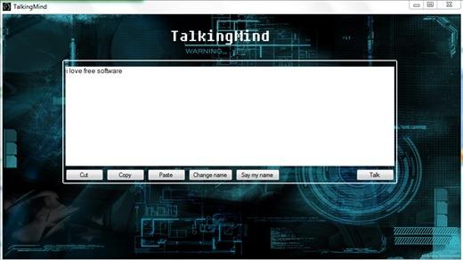 TalkingMind -Convert text to speech - interface