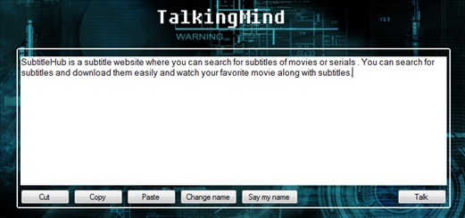 TalkingMind Reading
