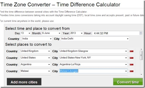 Time Difference Calculator 01 world time zone converter