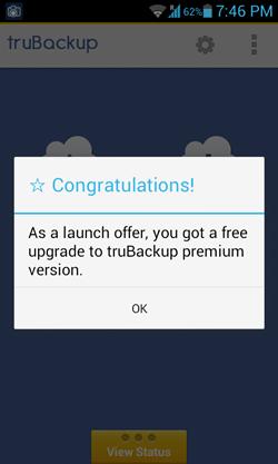 Trubackup free upgrade