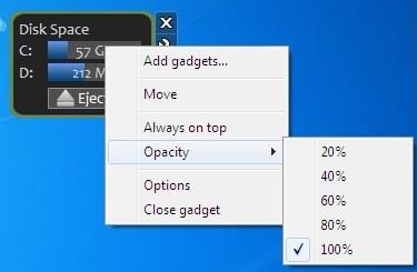 UsefulGadgets context menu