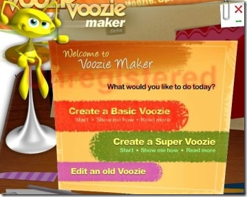 Voozie Maker 02 create free animated greeting card