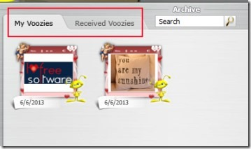 Voozie Maker 06 create free animated greeting card