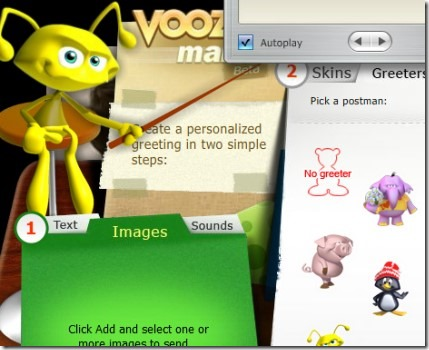 Voozie Maker 07 create free animated greeting card