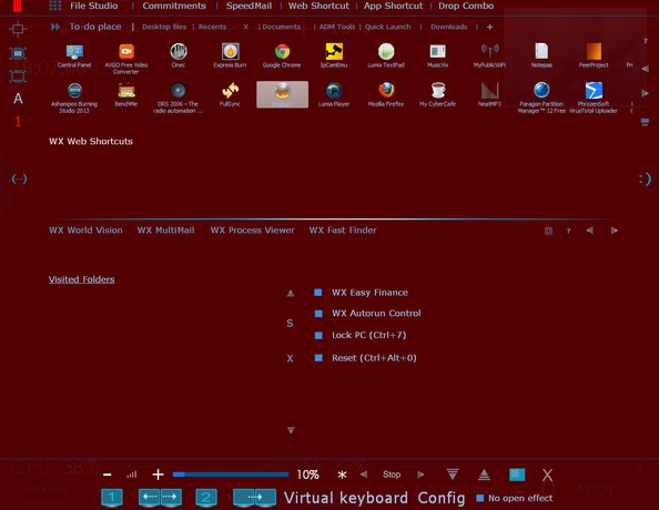 WX Xtreme Desktop default window
