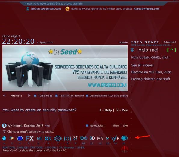 WX Xtreme Desktop homepage interfaces