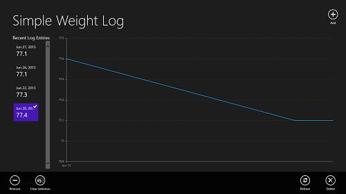 Weight log extra options