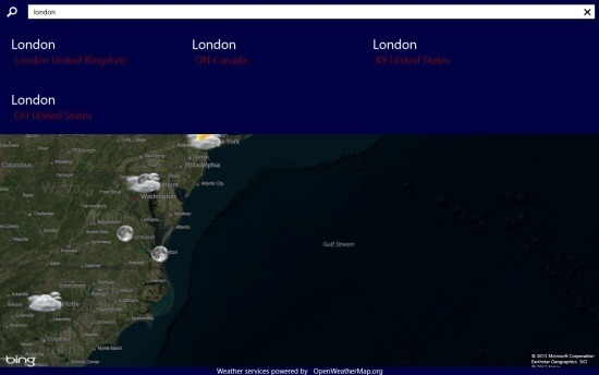 WorldWide Weather Free Weather App Windows 8