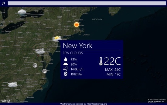 WorldWide Weather  Weather App For Windows 8