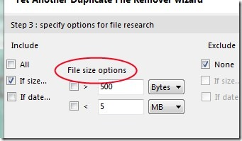 Yet Another Duplicate File Remover 04 free software for removing duplicate files