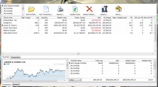 Zoom Portfolio Manager interface