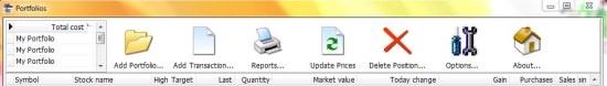 Zoom Portfolio Manager toolbar