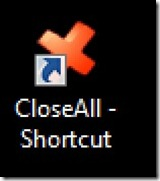 close all short cut