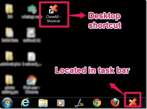 close all task bar