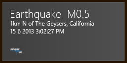 earthquake live tile