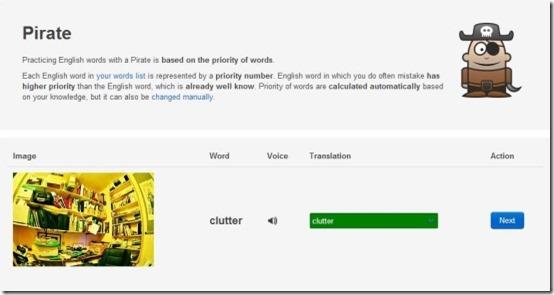 english vocabulary 6 pirate