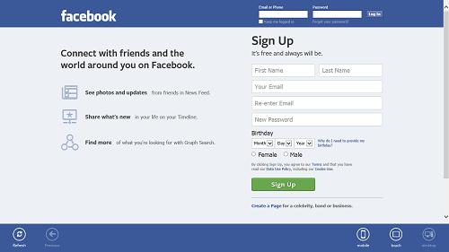 facebook desktop version