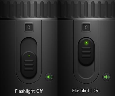 flashlight on/off