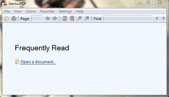 genius pdf interface