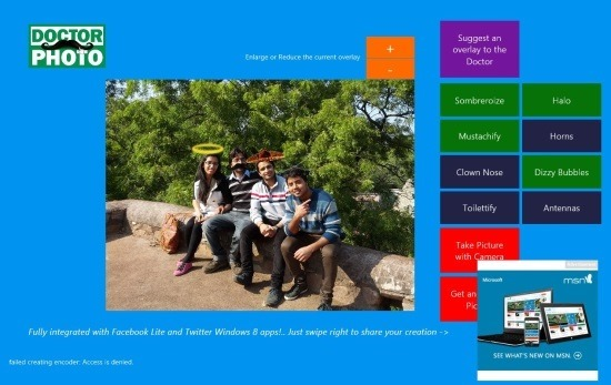 how to use Add Sticker To Images In Windows 8 Doctor Photo App