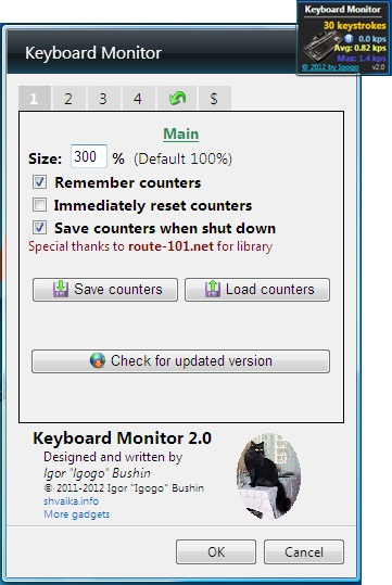 keyboard monitor settings