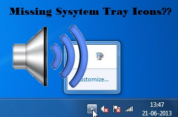 missing system tray icons interface