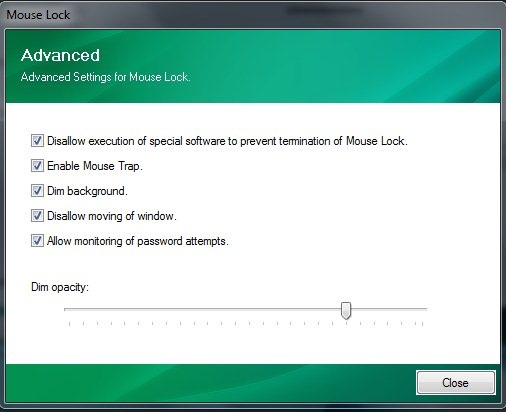 mouse lock properties