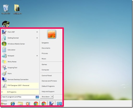 neiio start and desktop
