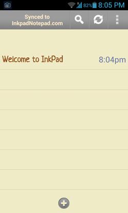 notepad main screen
