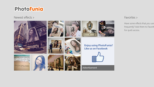 photofunia main screen