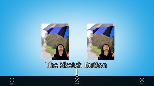 photosketch editing screen