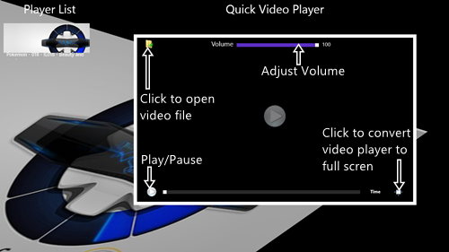 quick video player main screen