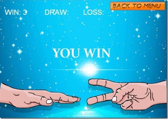 rockpaperscissorsyou win