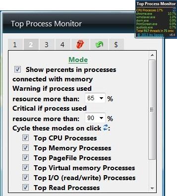 top process monitor cycle