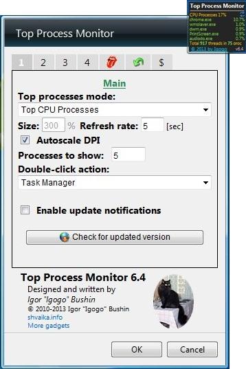 top process monitor properties