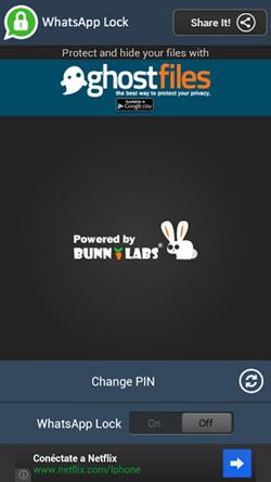 whatsapp lock screen