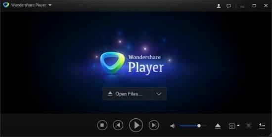 wondershare Player interface