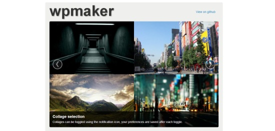 wpmaker interface