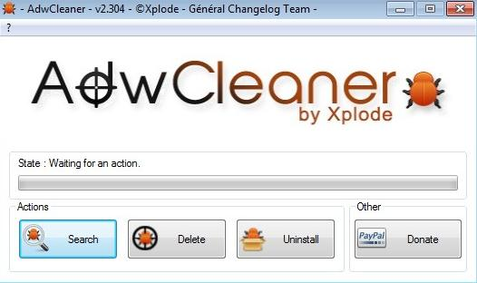 AdwCleaner default window